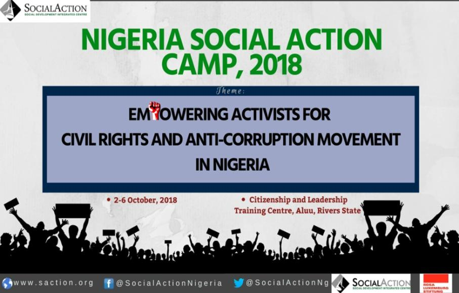 Nigeria Social Action Camp 2018 Strengthening the Movement for Civil Rights and Anti-Corruption in Nigeria