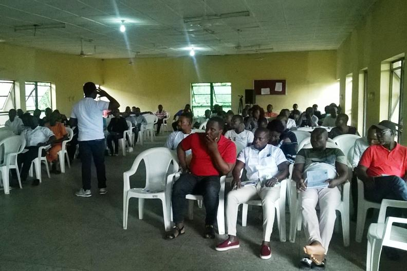 Cross Section of participants at the Anti-corruption Town Hall Meeting in Port Harcourt