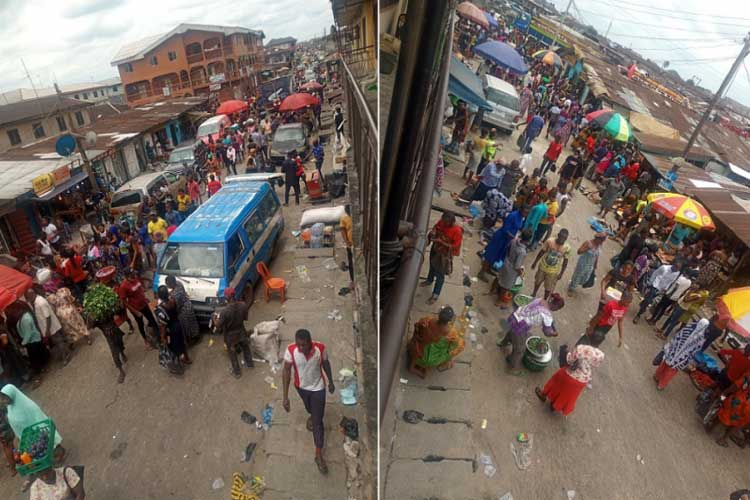 Crowded-markets-in-Port-Harcourt-City-Local-Government-after-the-announcement-of-the-two-day-ease-on-lockdown