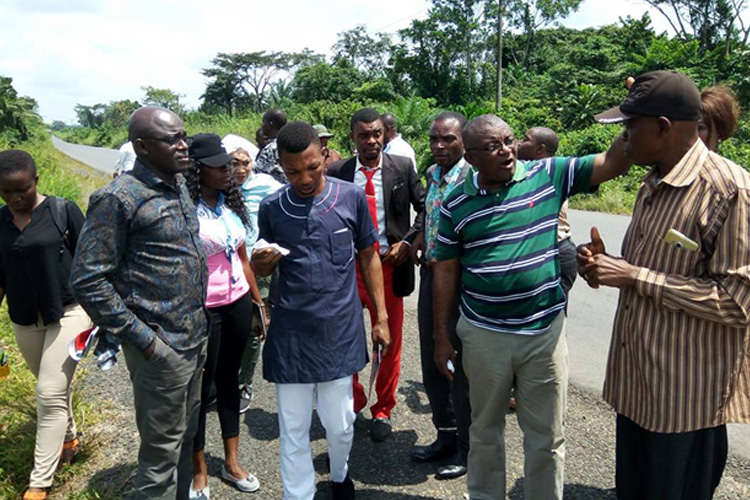 Foremost-environmentalist-and-nature-conservation-activist-makes-a-point-during-a-field-trip-to-study-the-impacts-of-Cross-River-REDD+-and-the-proposed-Super-Highway-projects.