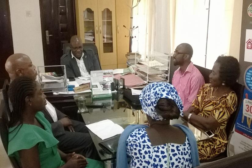 Social Action led CSOs in Ondo State to meet with the Permanent Secretary, Ministry of Economic Planning and Budget, Bunmi Alade