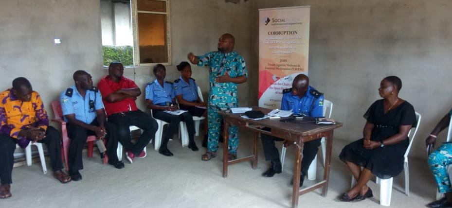 Social Action's Arochukwu Ogbonna making a presentation