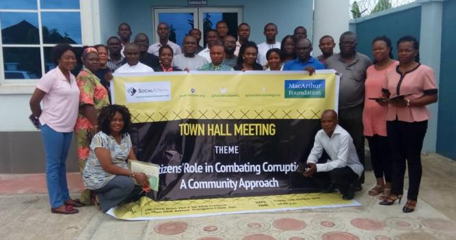 Some participants of the Town Hall Meeting in Uyo