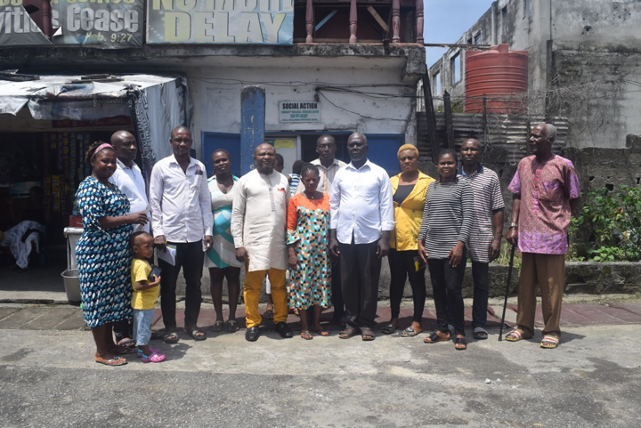 Group Photograph of CRC members some community persons after the inauguration